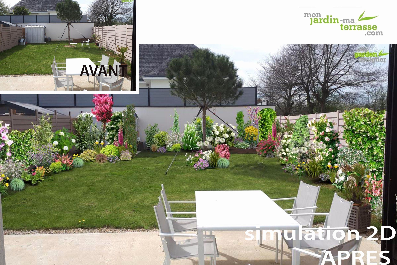 Idee Amenagement Jardin Rectangulaire Idee Amenagement ... concernant Amenager Jardin Rectangulaire