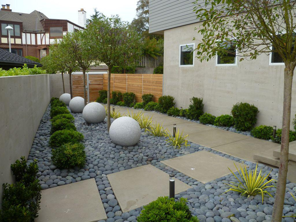 Idées Déco] Pour Un Jardin Minimaliste | Cocon - Déco & Vie ... dedans Decoration Jardin Zen Exterieur