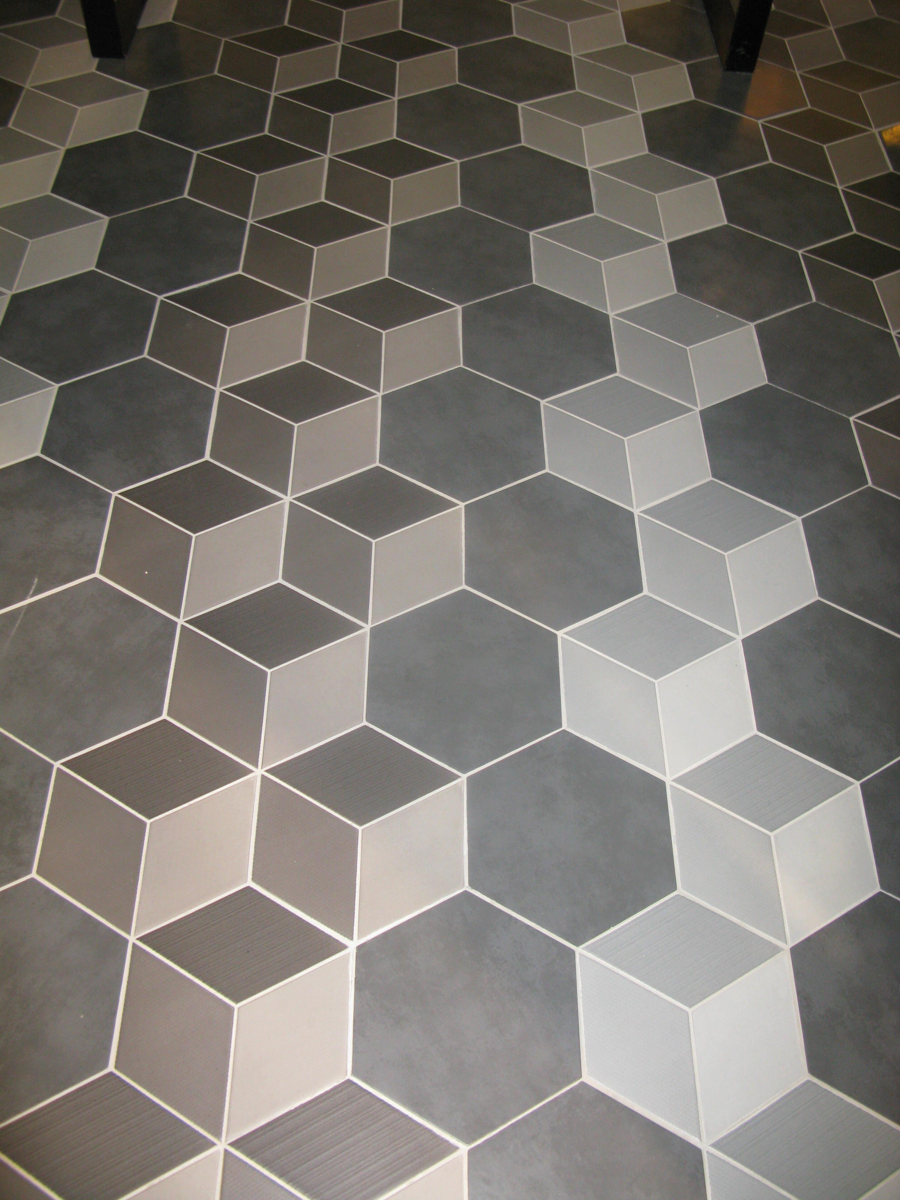 Imitation Carreau Ciment En Relief Effet 3D intérieur Carrelage Sol Hexagonal