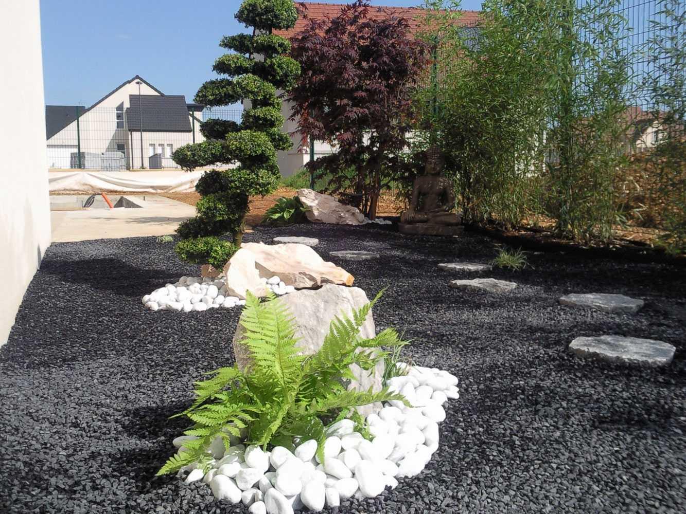 Impressionnant Jardin Exterieur Zen Avec Deco De Jardin ... concernant Decoration Jardin Zen Exterieur