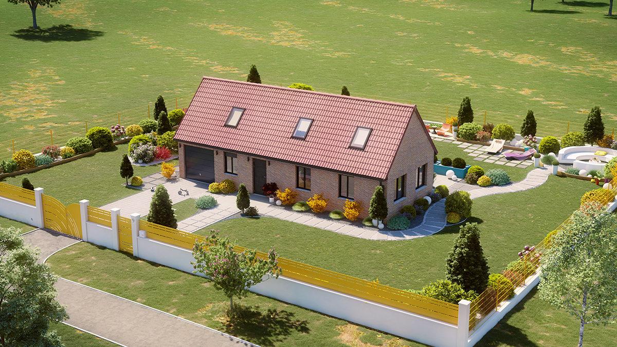 Jardin Campagne : Aménager Un Terrain De Près De 1500M2 dedans Amenager Jardin Rectangulaire