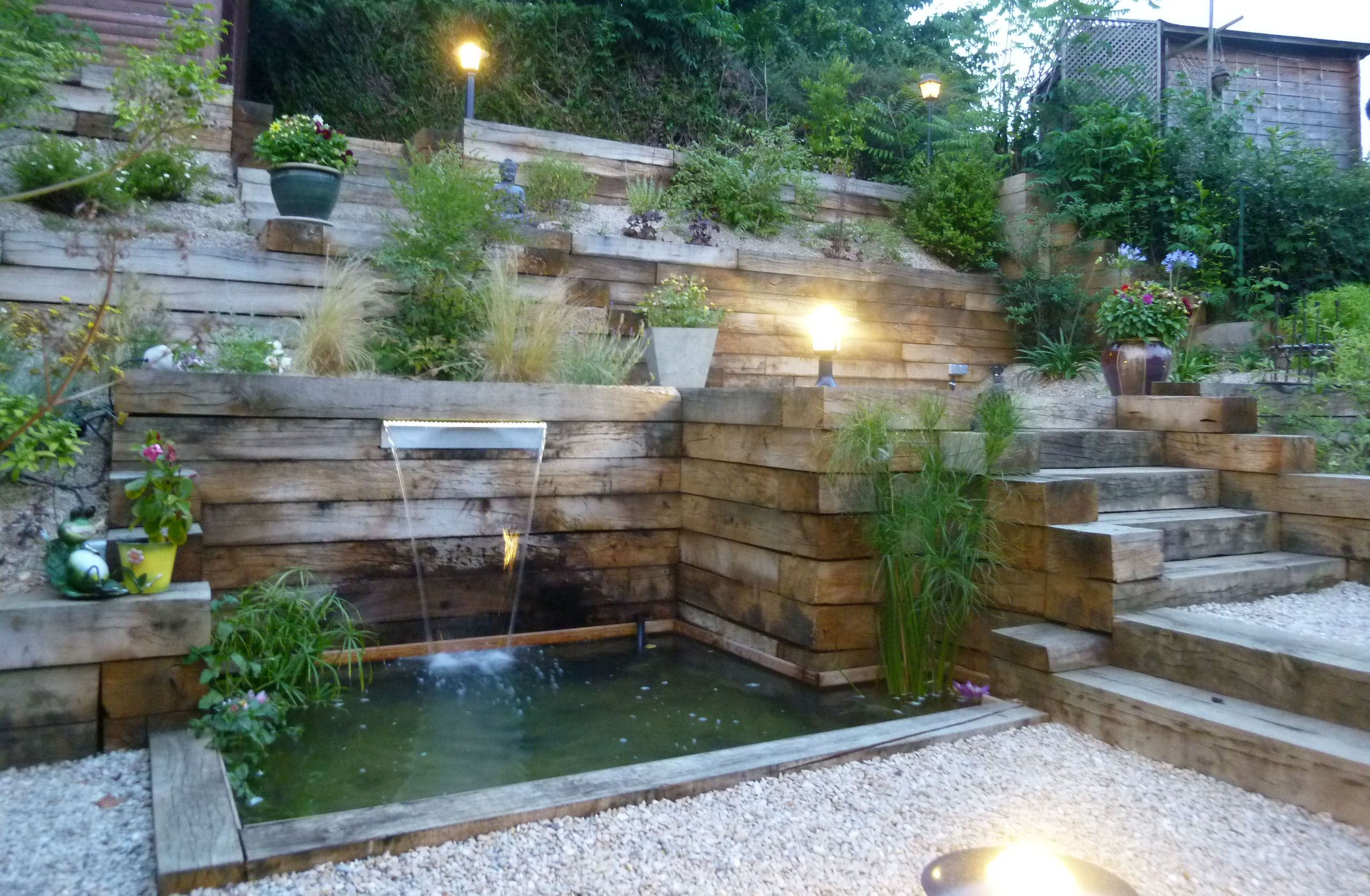 Jardin En Pente - Recherche Google | Amenagement Jardin En ... avec Amanagement Jardin En Pente