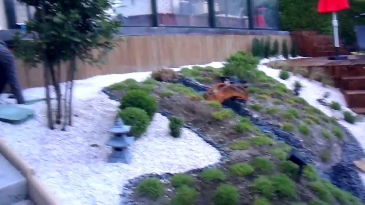 Jardin Japonais En Pente avec Modele De Jardin Japonais