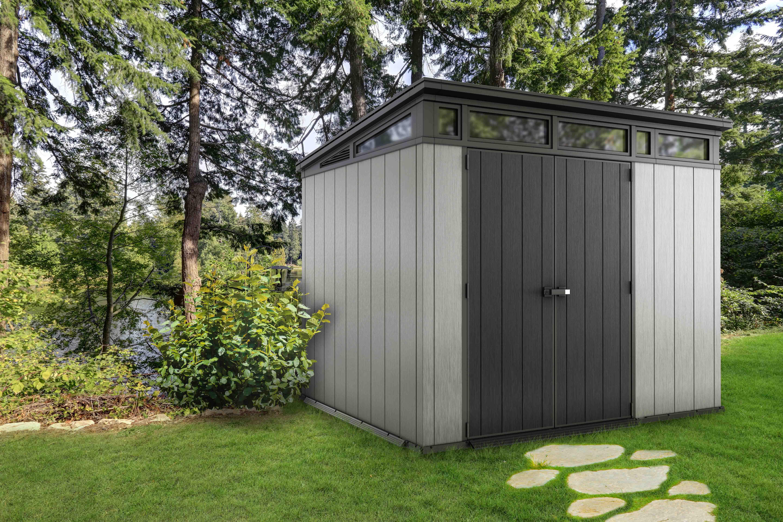 Keter:la Maison Du Jardin L'abri En Résine Oakland Brossium ... pour Abri Jardin Monopente