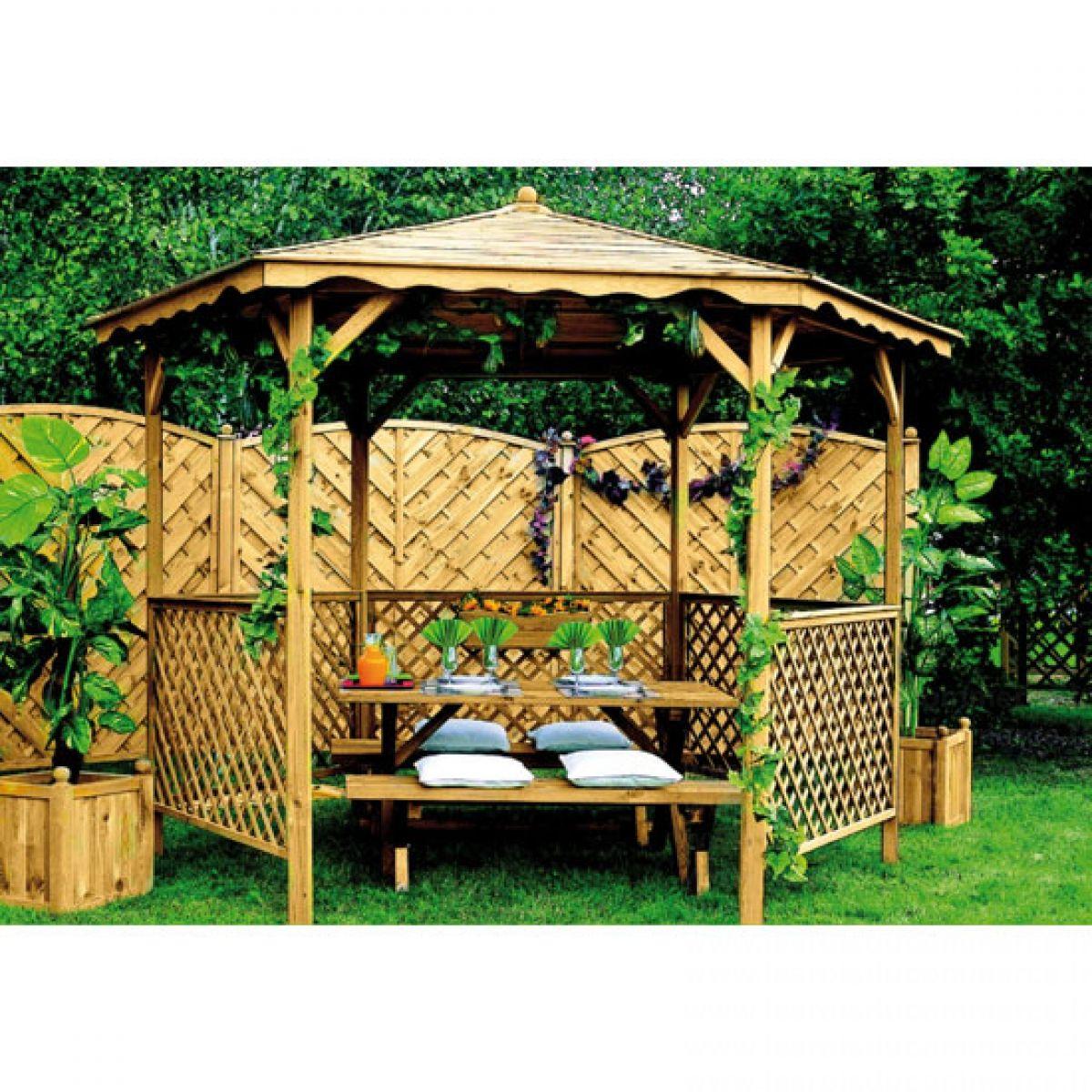Kiosque De Jardin | Kiosque Jardin, Jardins En Bois Et ... à Abris De Jardin Carrefour
