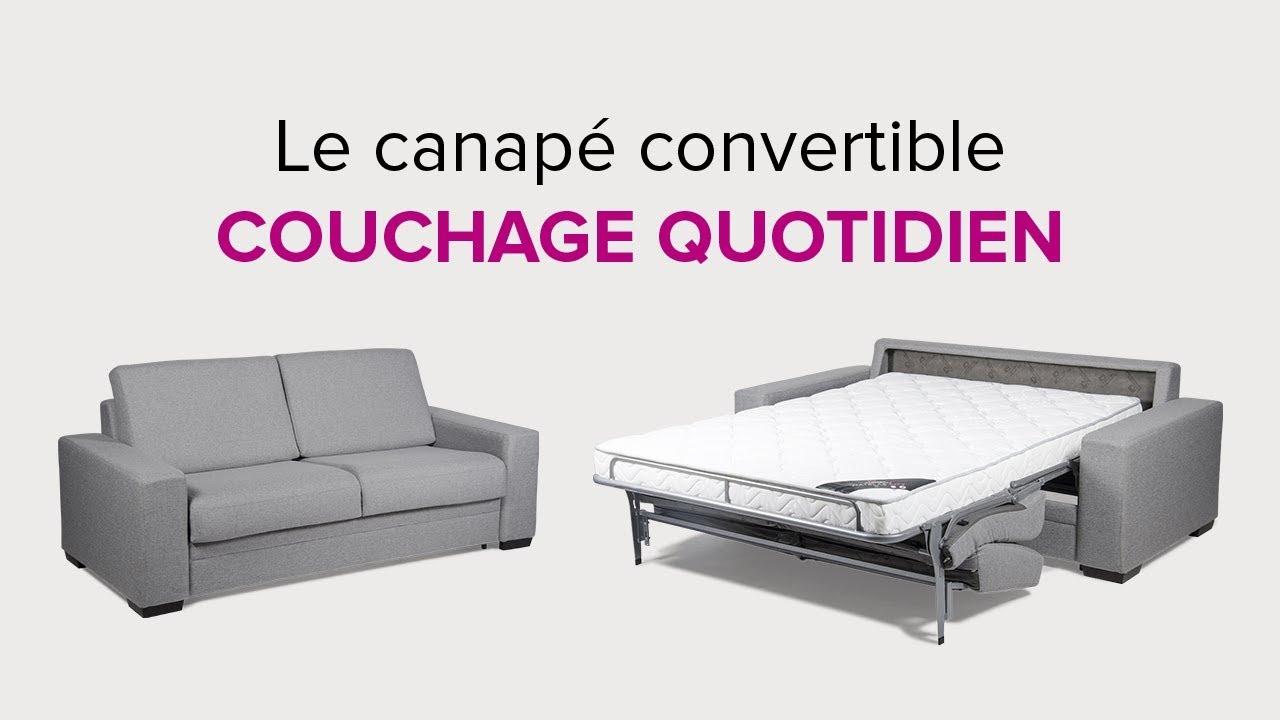 La Maison Du Convertible Présentation Du Canapé Convertible En Couchage  Quotidien pour Canape Lit Convertible Couchage Quotidien