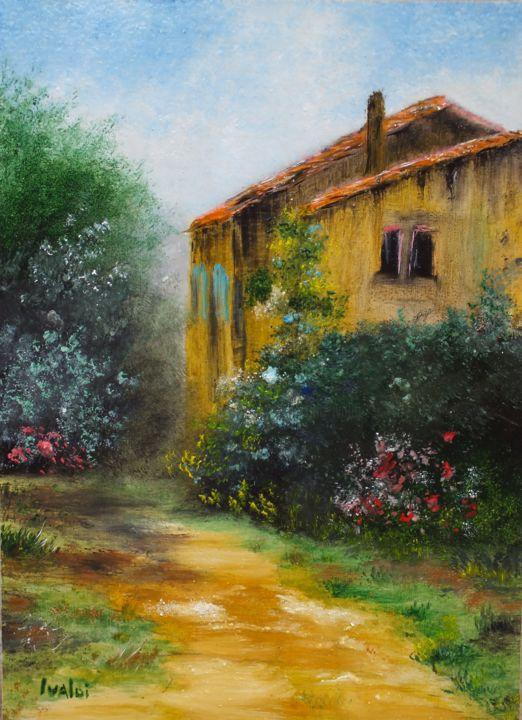 L'allée Du Jardin Painting By Martine Ivaldi | Artmajeur pour Allee De Jardin