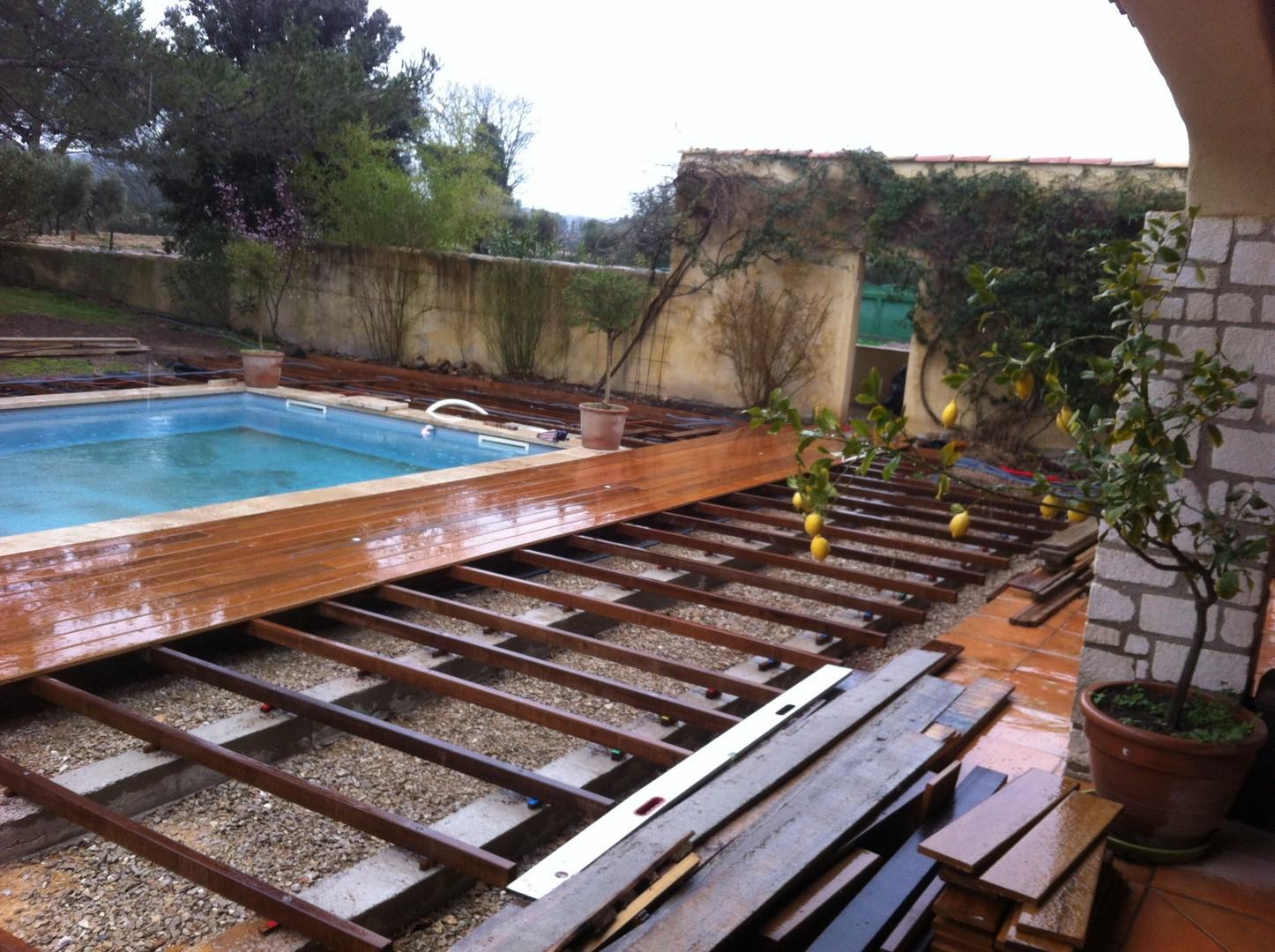 Lambourdes En Bois Exotiques Pour Terrasse Et Contour De ... tout Bois Pour Terrasse Piscine