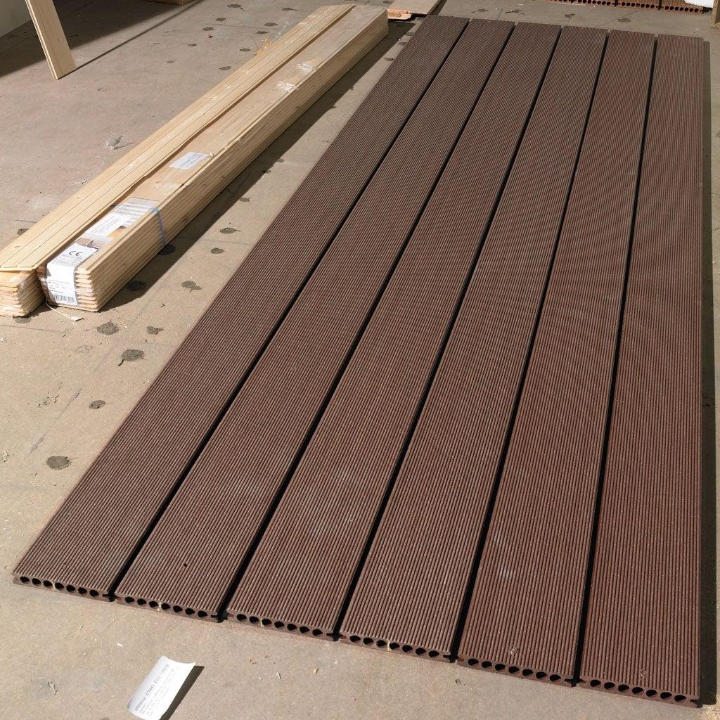 Lame De Terrasse En Bois Composite Alveolaire Redwood à Terrasse Bois Composite