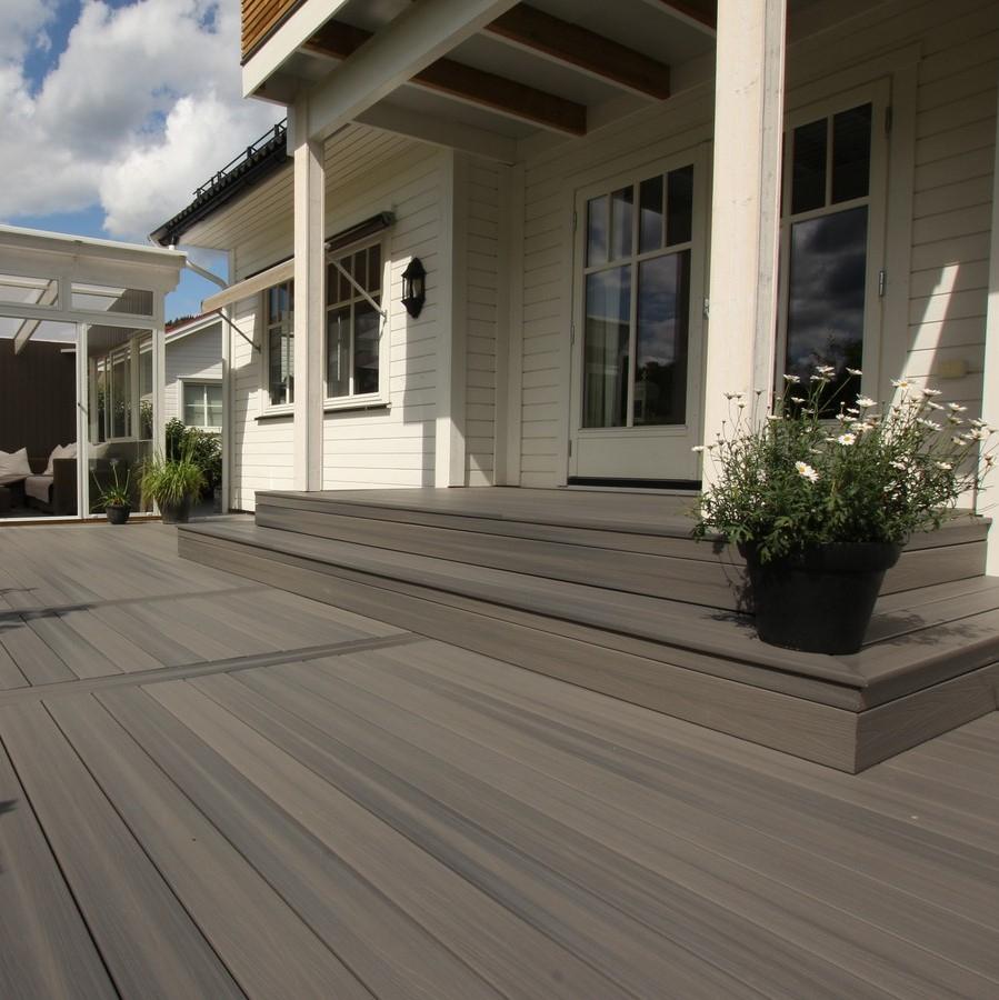 Lame Terrasse Composite Gris Aspen Fiberon Xtreme Advantage serapportantà Terrasse Bois Composite