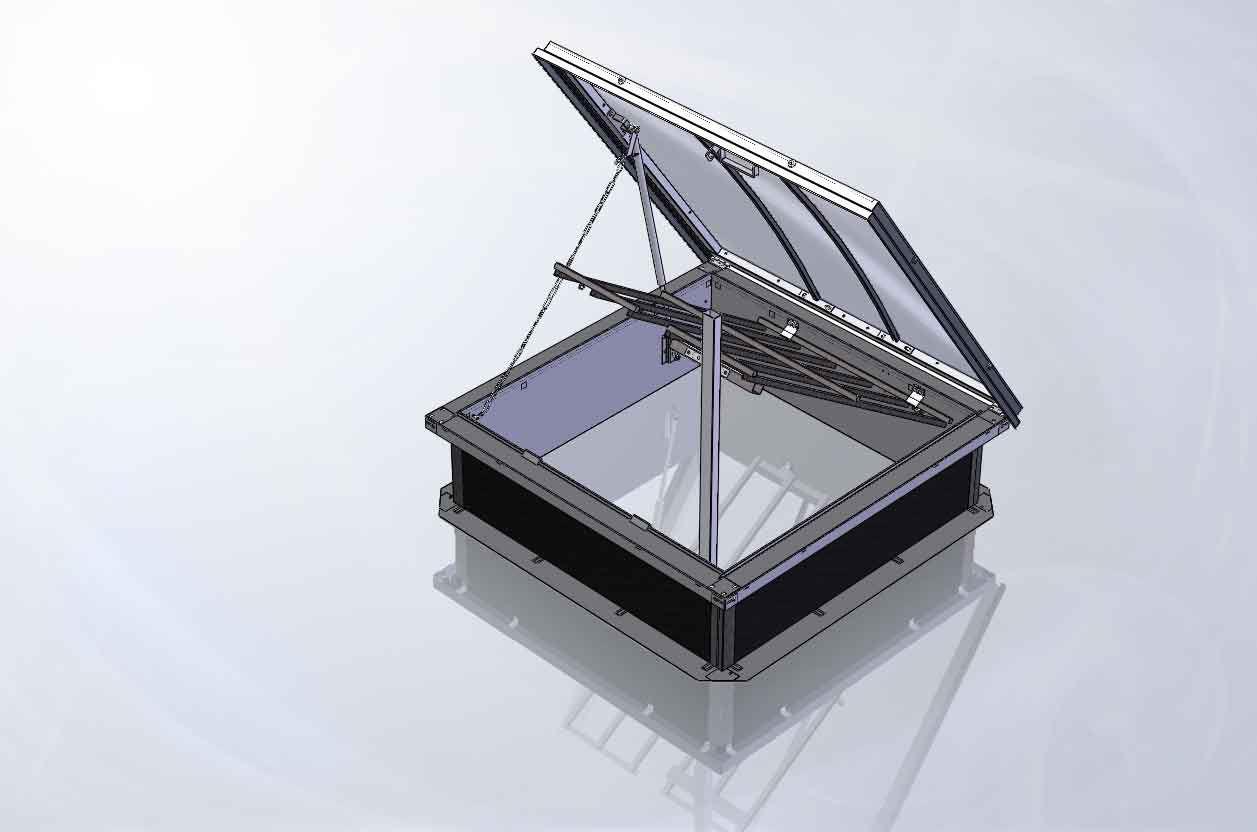 Lanterneau Pour Toiture-Terrasse - Passadôme - Skydôme destiné Acces Toit Terrasse