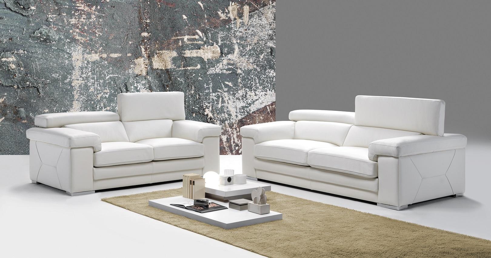 Laveno Design Italien Cuir Épais encequiconcerne Canape Convertible Cuir Blanc