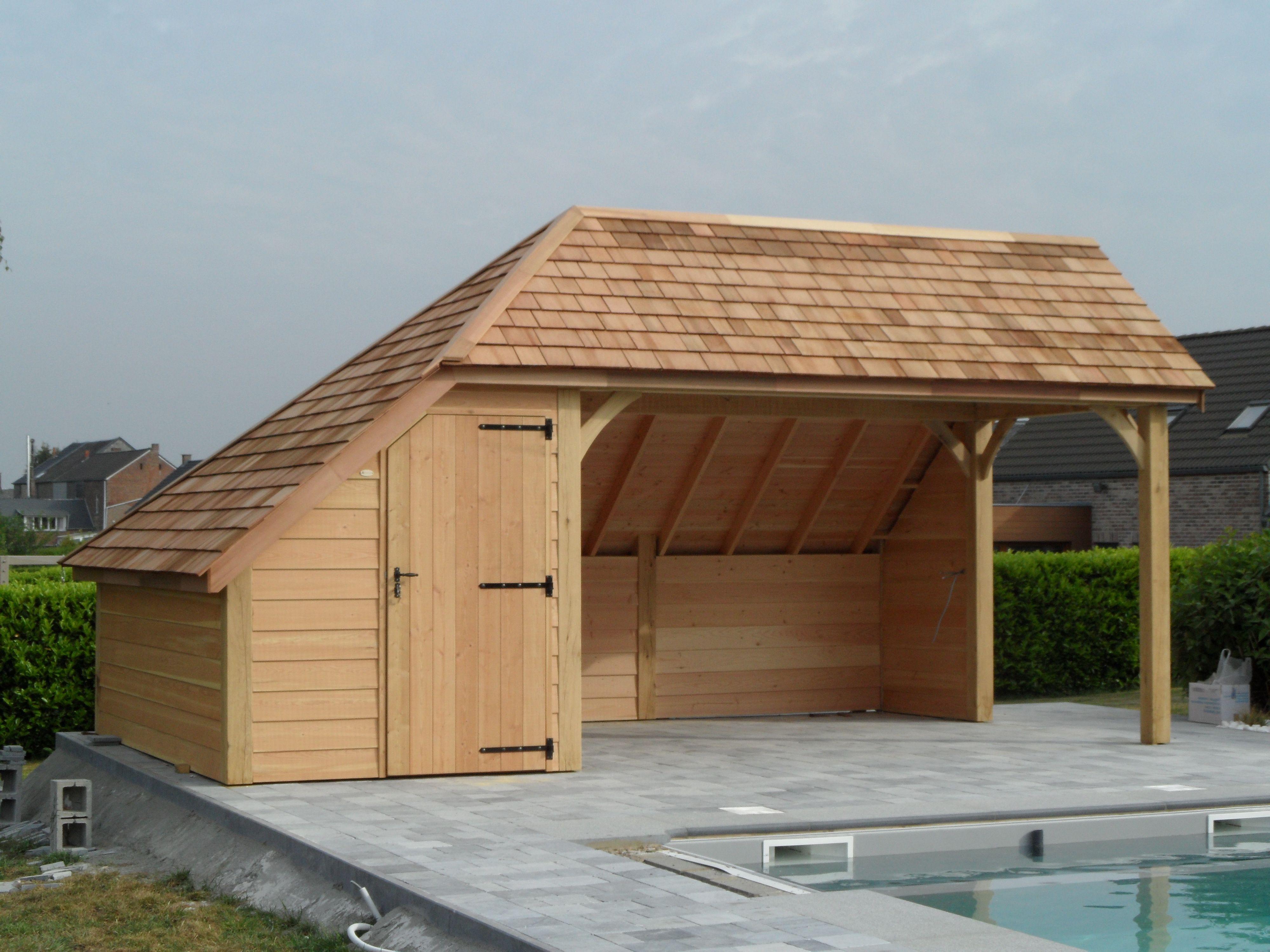 L'élaboration D'abris À Piscine Sur Mesure Ou Cabane De ... à Abri De Jardin Belgique