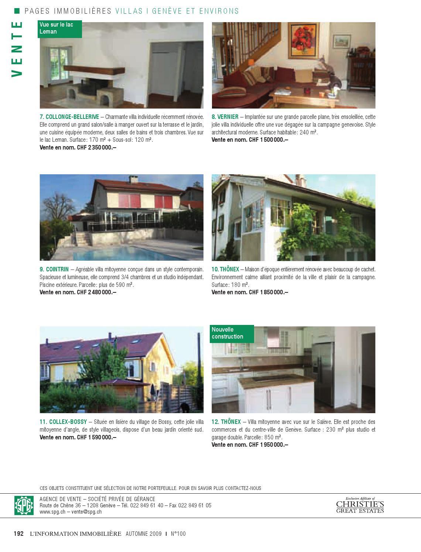 L'rmation Immobiliere N°100 By Societe Privee De Gerance ... à Agence De La Terrasse