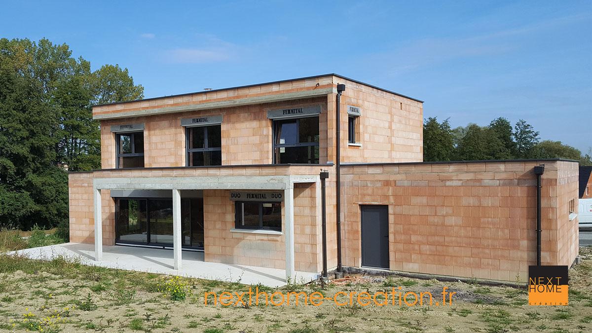 Maison Toit Plat Avec Terrasse Couverte - Nexthome Création pour Terrasse Toit Plat