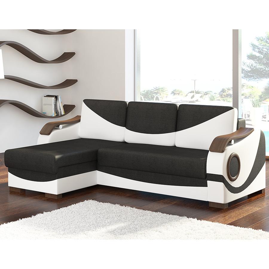 Meuble De Salon, Canapé, Canapé D Angle Universel - Kasalinea avec Canape Convertible Noir Et Blanc