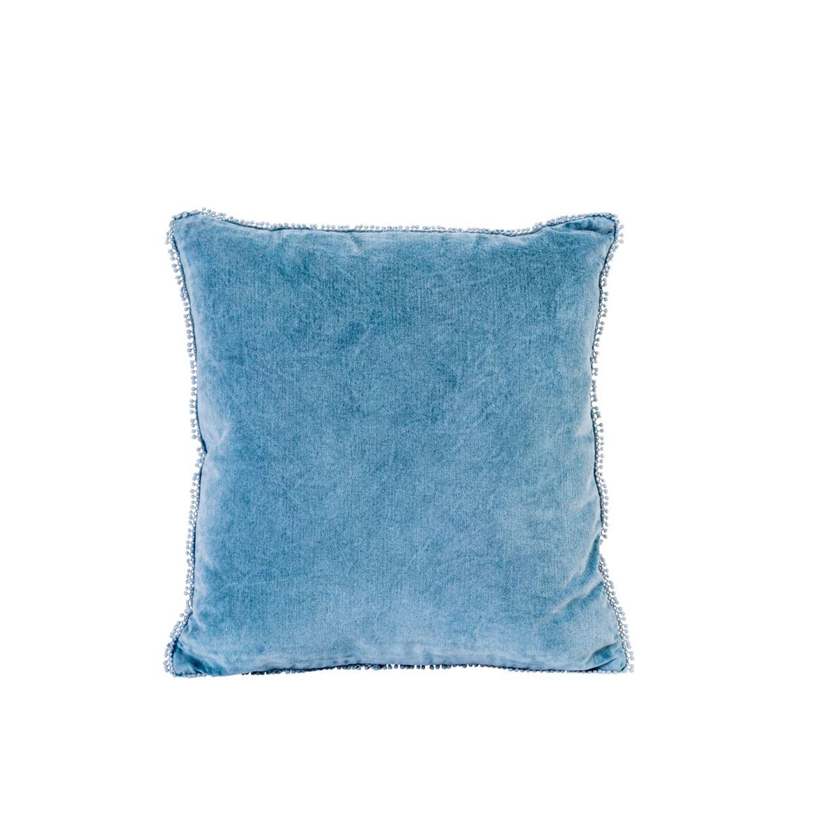 Milani Coussin Bleu Larg. 45 X Long. 45 Cm à Coussin Bleu Turquoise