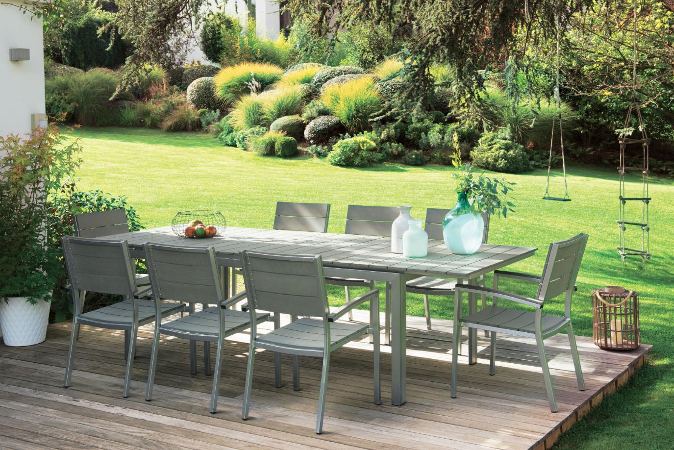 Mobilier De #jardin #truffaut | Salon De Jardin Bois ... pour Salon De Jardin Truffaut