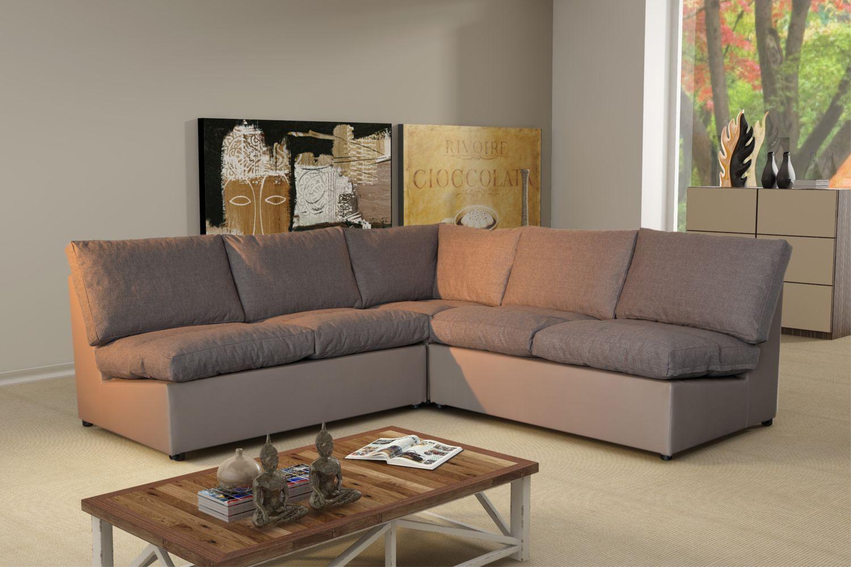 Modern Sofa - Canapé D'angle Modulable Avanti Taupe ... pour Achat Canape D Angle