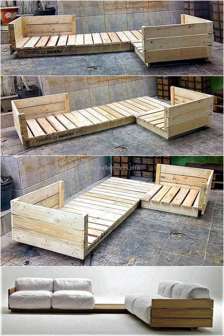 Most Creative Simple Diy Wooden Pallet Furniture Project ... pour Meubles De Jardin En Palettes