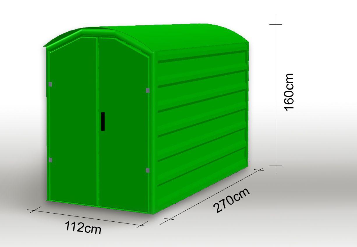 Moto-Box Standard « Moto-Box.pl | Bike Shed, Motorcycle ... pour Abri Moto Jardin