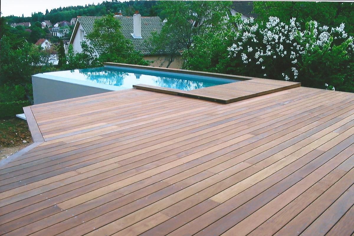 Nos Terrasses En Bois Exotique avec Bois Pour Terrasse Piscine