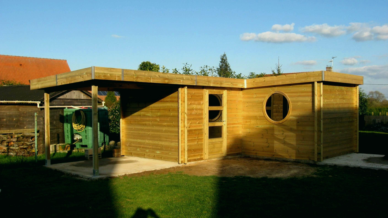 Nouveau Abri De Jardin Moderne Toit Plat - Luckytroll concernant Abri Jardin Moderne