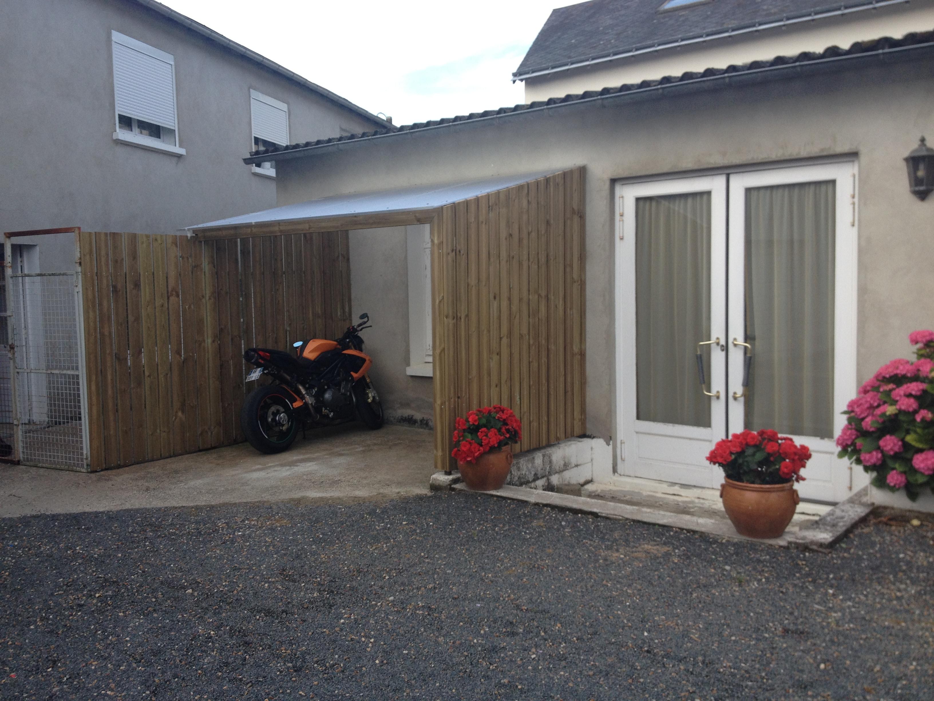 Nouveau! Un Abri Vélo / Moto | Clair Cottage pour Abri Moto Jardin