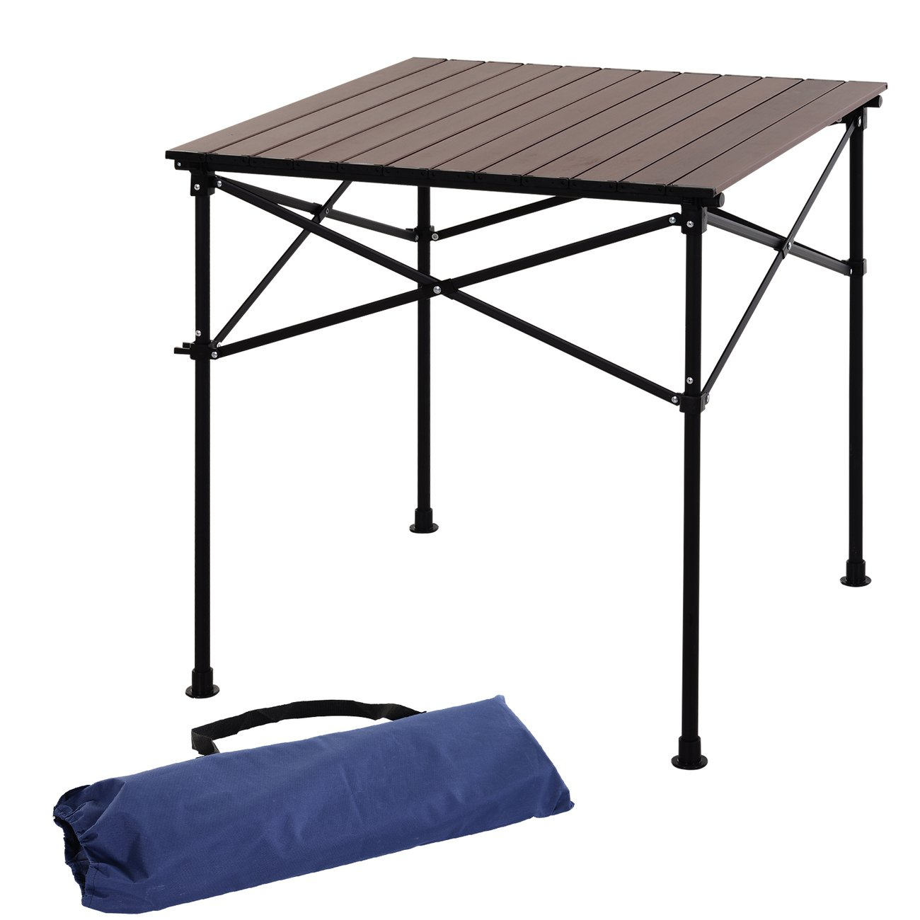 Outsunny Table Pliante En Aluminium Table De Camping Table De Jardin 4  Personnes + Sac De Transport dedans Table Exterieur 4 Personnes