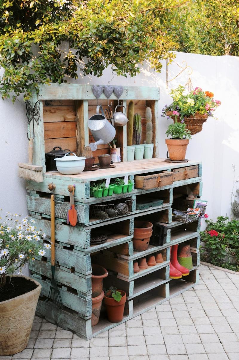 Palette Meuble Jardin Inspirations Avec Meuble En Palette Et ... avec Meubles De Jardin En Palettes
