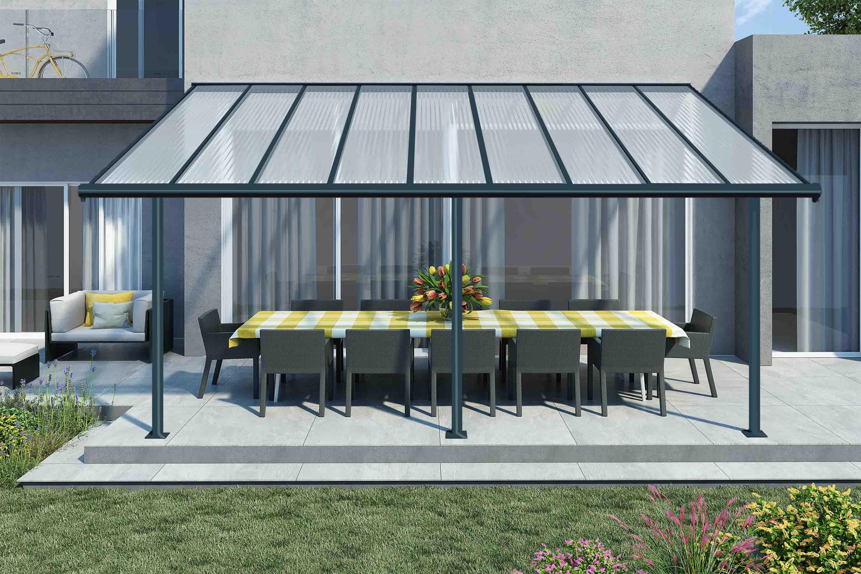 Palram:la Maison Du Jardin Le Toit Terrasse Elite 3X5 Est La ... intérieur Toit Terrasse Aluminium