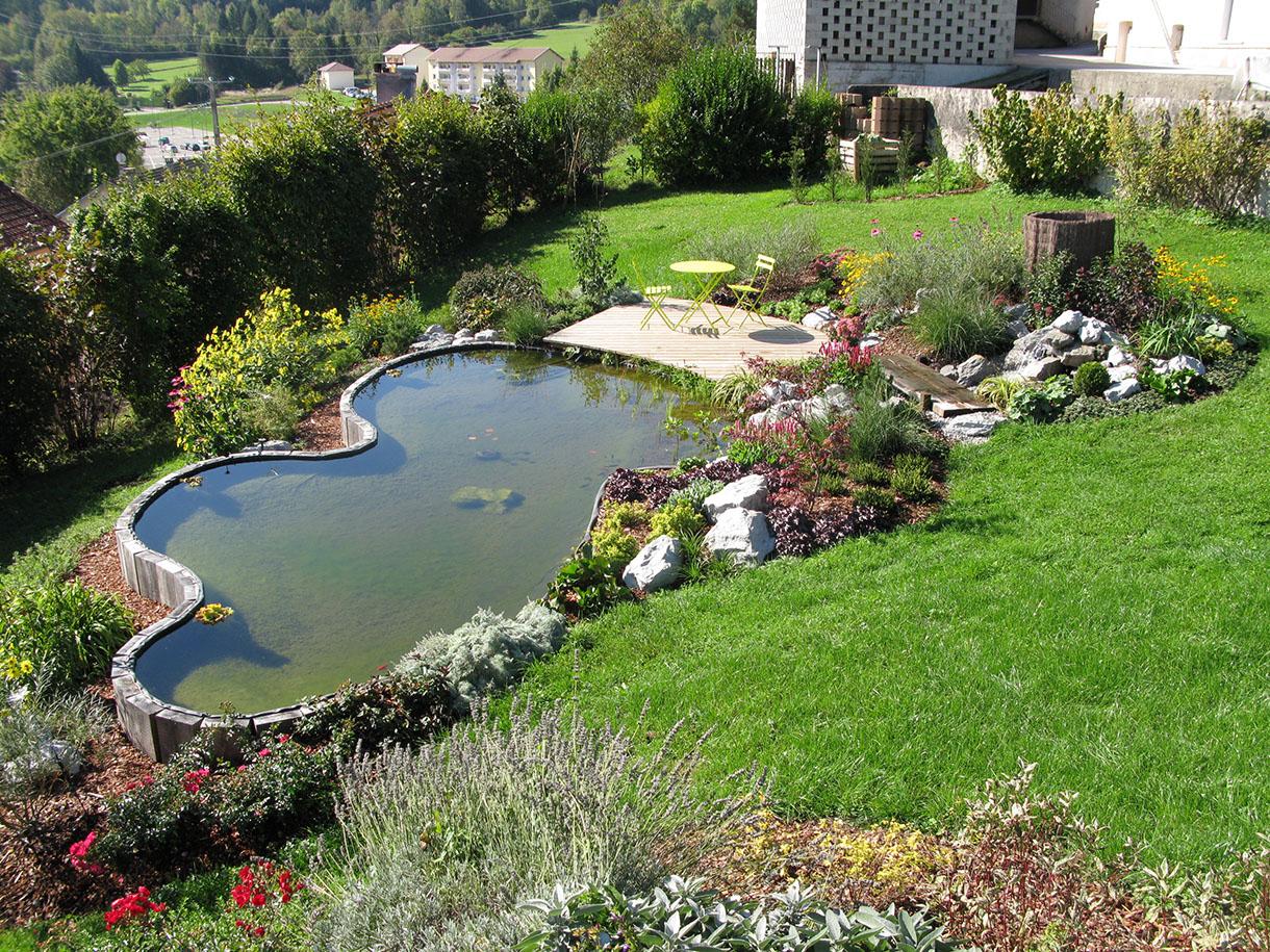 Pas-À-Pas: Créer Un Bassin Sur Un Terrain En Pente - Détente ... encequiconcerne Amanagement Jardin En Pente