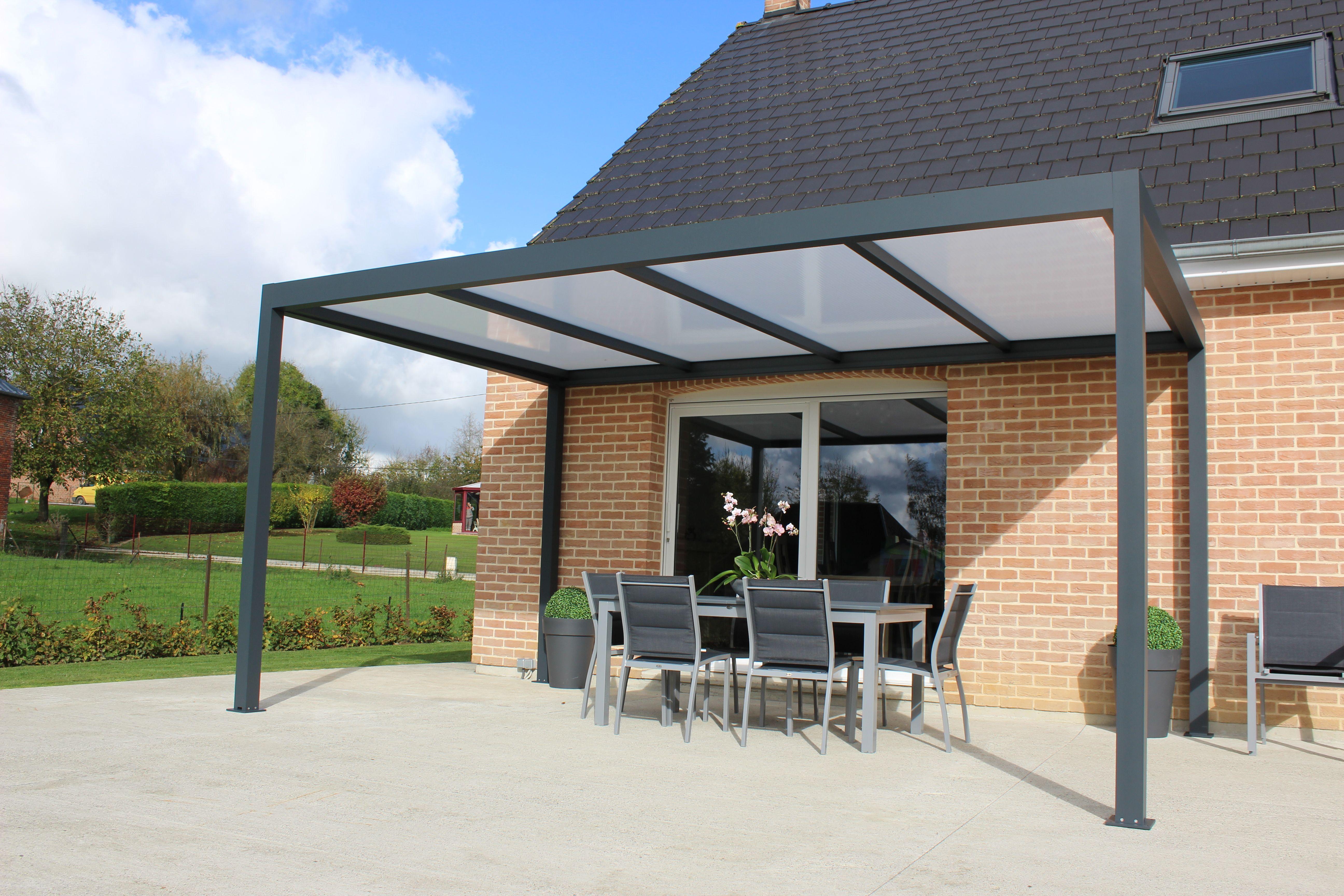 Pergola En Aluminium Toit Terrasse (Polycarbonate)   Pergola pour Toit Terrasse Aluminium