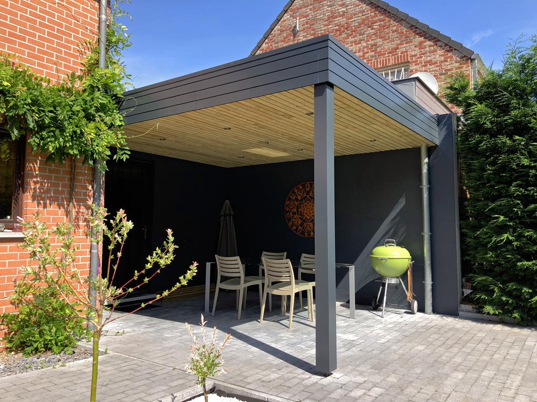 Pergola En Bois Pour La Terrasse Et Le Jardin Certifiée Pefc ... intérieur Pergola Toit Plat
