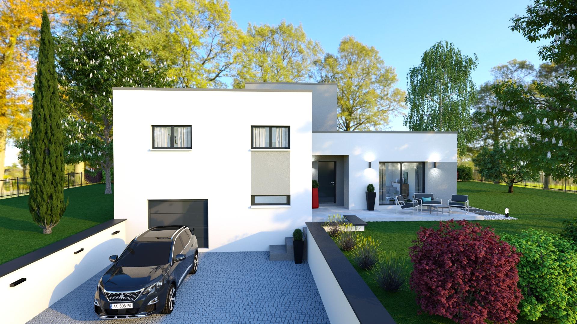Perle, Maison Sous-Sol Avec Toiture Terrasse, 3 Chambres ... intérieur Terrasse Toit Plat