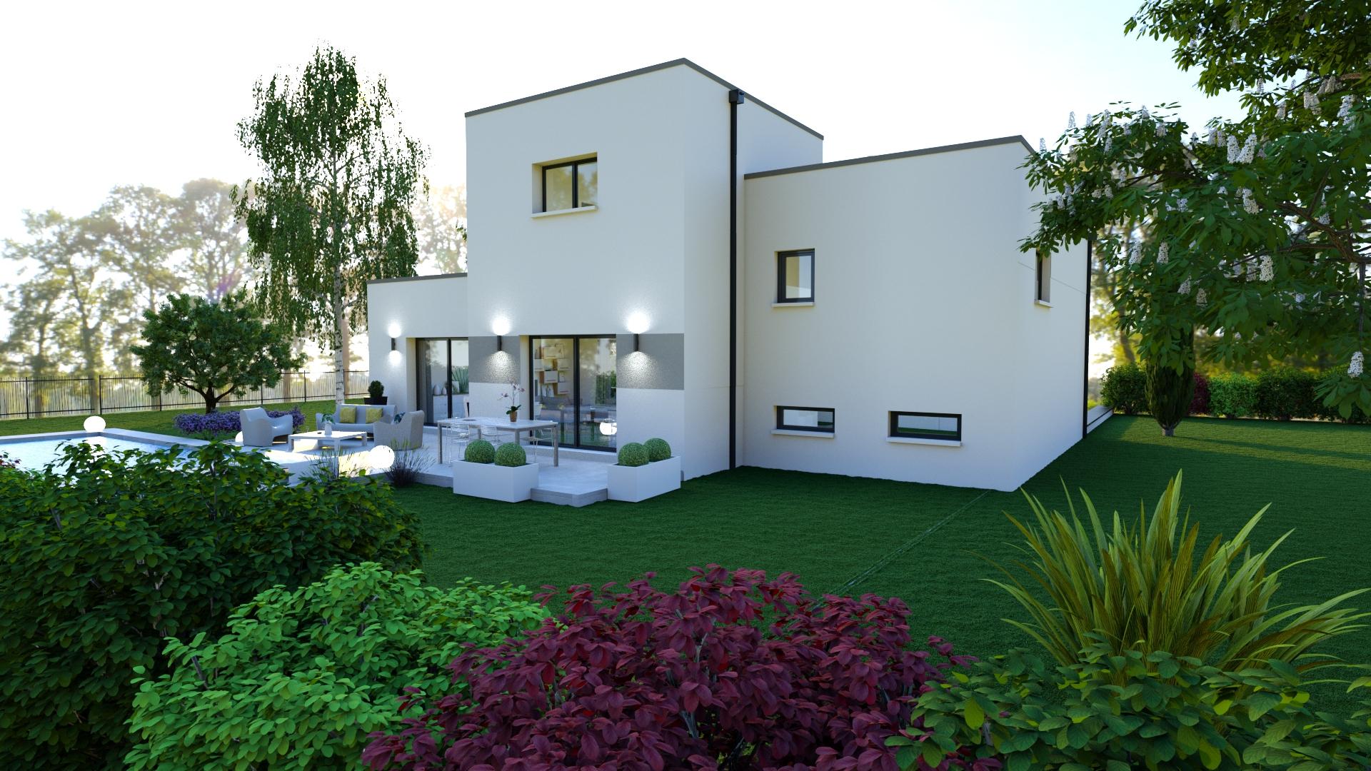 Perle, Maison Sous-Sol Avec Toiture Terrasse, 3 Chambres ... serapportantà Terrasse Toit Plat