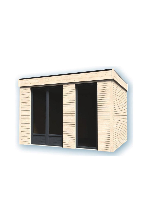 Pièce À Vivre Décor Home 9M² En 2020 | Plan Cabane En Bois ... pour Abri De Jardin 9M2