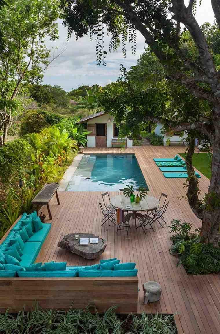 Pinterest-Jardin-Terrasse-Deco-Piscine-Decking-Bois ... destiné Amenagement Exterieur Piscine