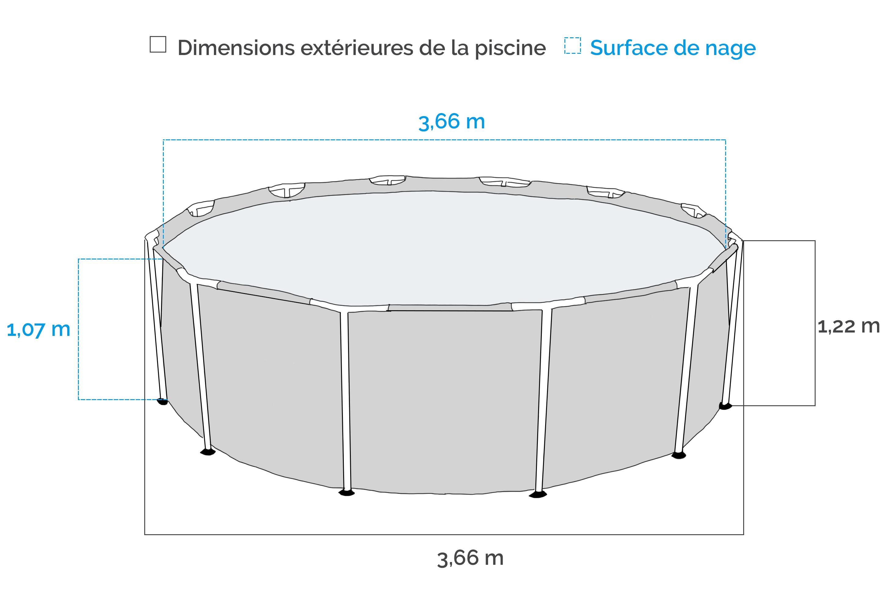 Piscine Tubulaire Intex Prism Frame 3,66 X 1,22 M dedans Piscine Tubulaire Intex Pas Cher