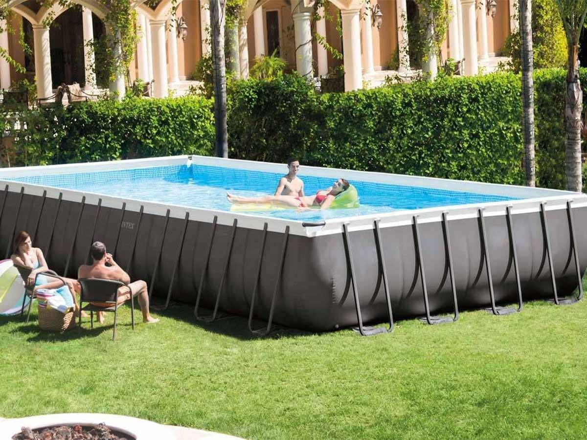 Piscine Tubulaire Ultra Silver Rectangulaire Intex Pas Cher ... intérieur Piscine Tubulaire Intex Pas Cher