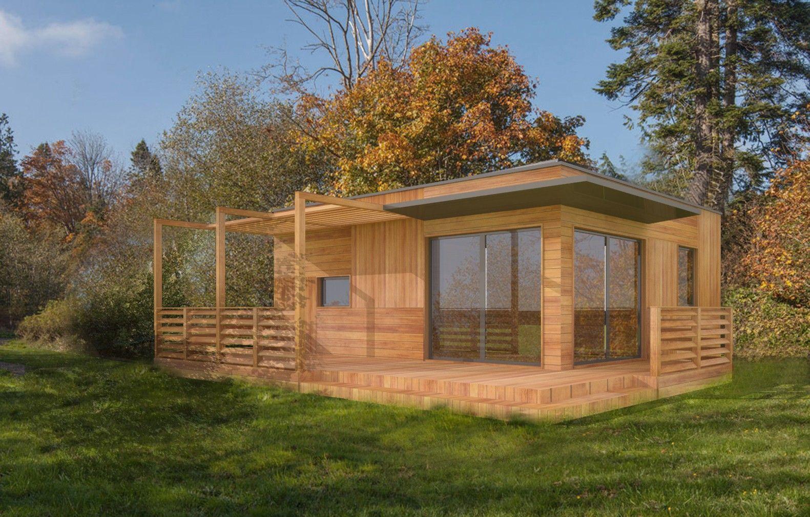 Plan Studio 35M2 Clé En Main | Chalet En Bois Habitable ... pour Abri De Jardin 30M2