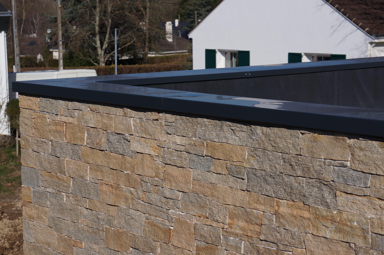 Pour Votre Toit Terrasse, Pensez À La Couvertine Alu pour Acrotere Toit Plat