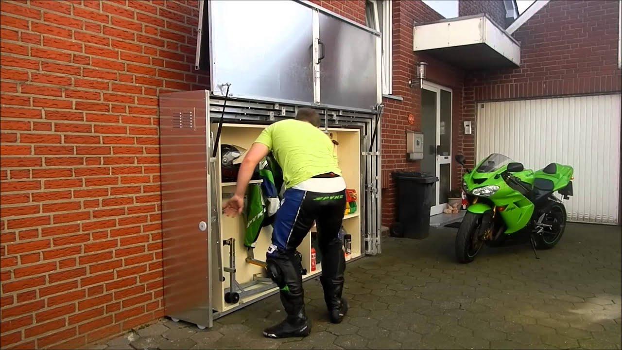 Pratique : Un Garage Moto Télescopique En Métal pour Abri Moto Bois
