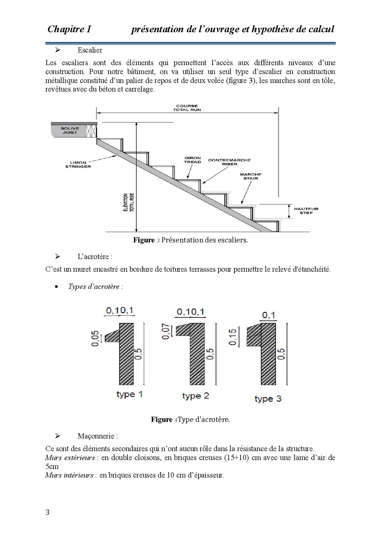Présentation De Louvrage Et Hypothèse De Calcul - Docsity dedans Acrotere Toiture Terrasse
