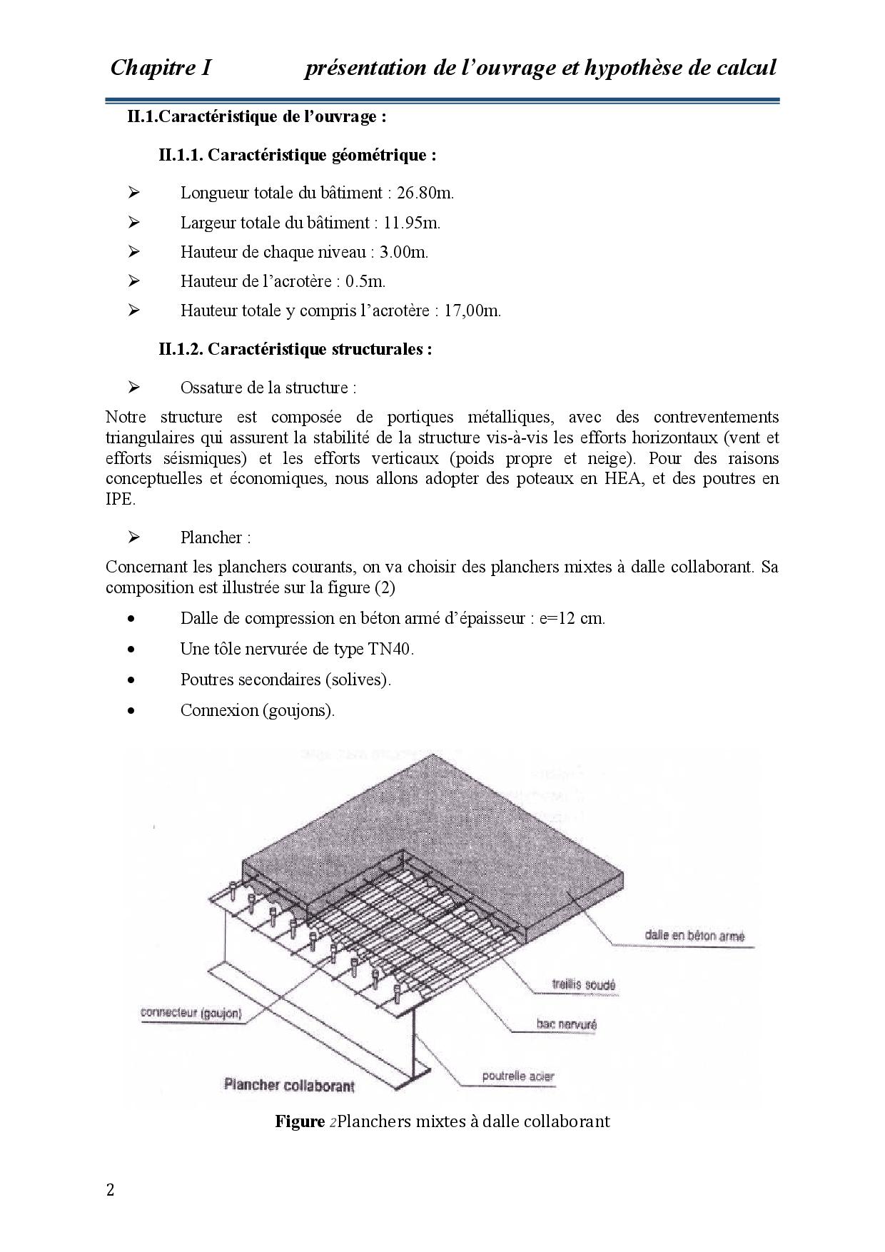 Présentation De Louvrage Et Hypothèse De Calcul - Docsity tout Acrotere Toiture Terrasse