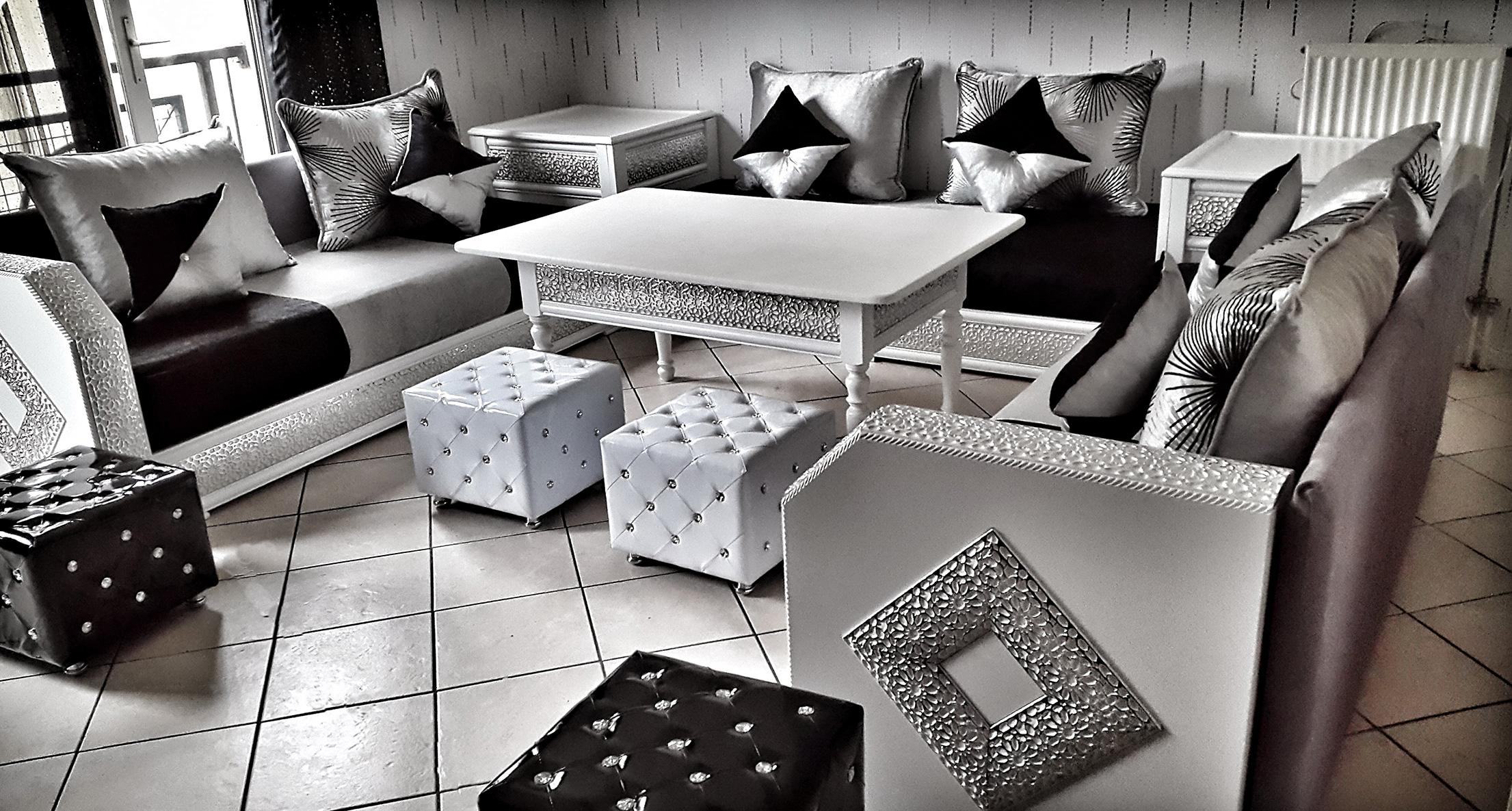 Prestige | Salon Marhaba, Salon Marocain Paris, Salon ... à Salon Gris Et Blanc