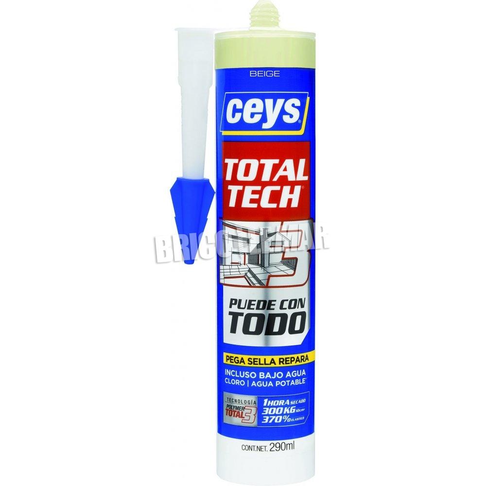 Produit D'étanchéité Adhésif Total Tech Beige 290Ml Ceys avec Produit D Etancheite