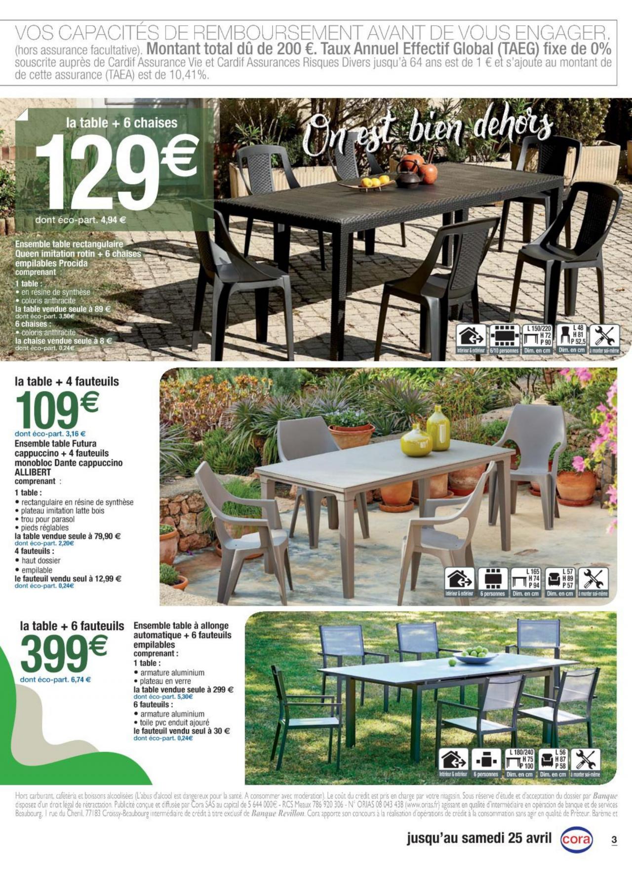 Prospectus Cora Du 07/04/2020 | Kupino.fr destiné Salon De Jardin Cora