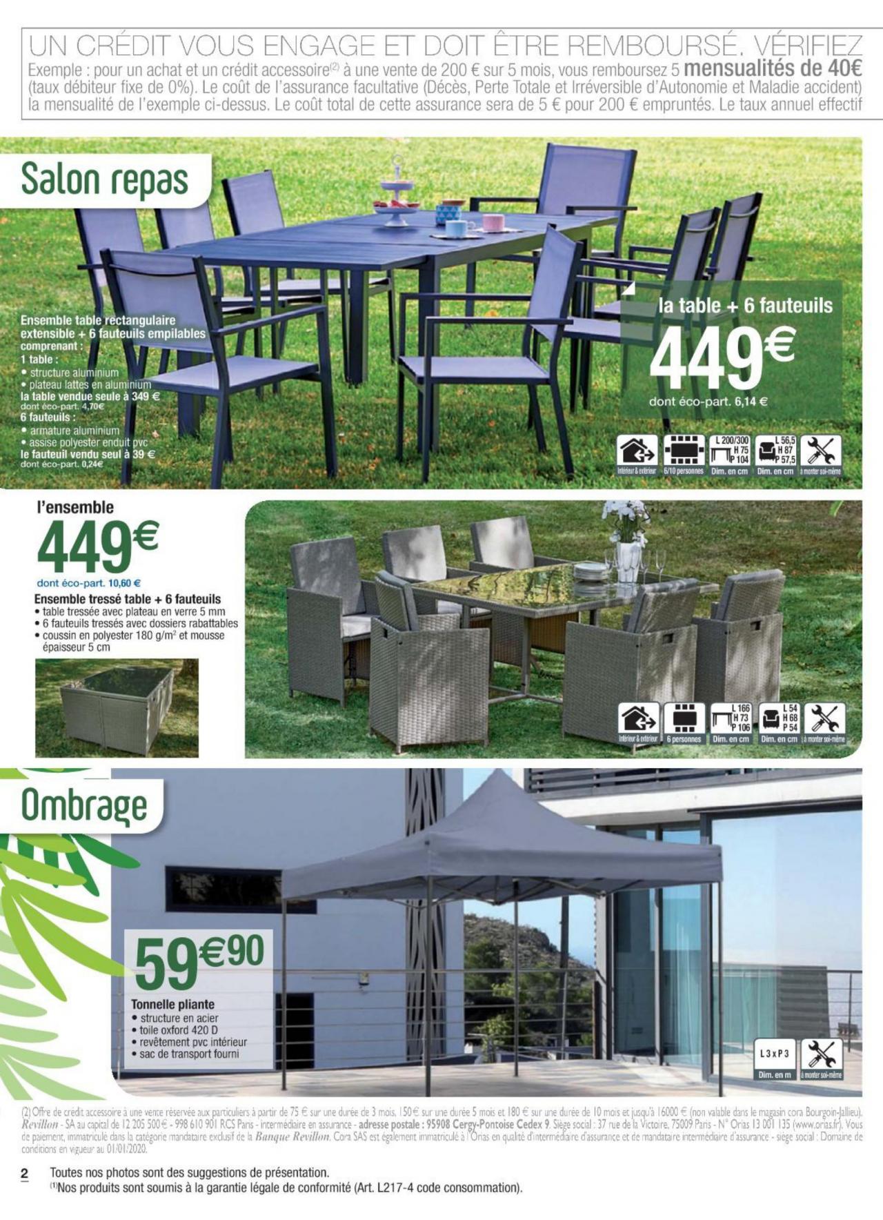 Prospectus Cora - Salon De Jardín Du 07/04/2020 | Kupino.fr concernant Salon De Jardin Cora