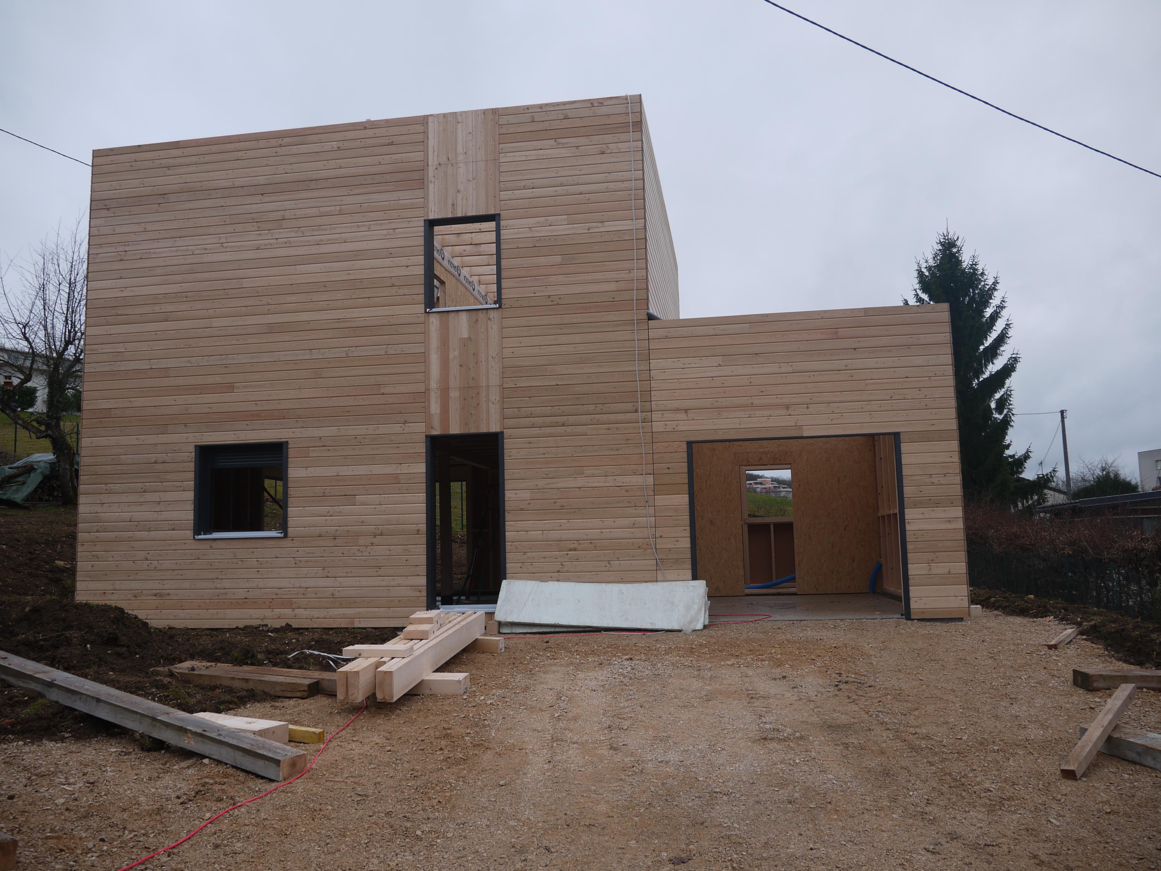 Quatrième Jour De La Construction De Notre Maison Toit Plat ... à Acrotere Toit Plat